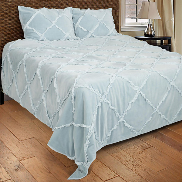 Rizzy Home Evan Solid Textured  Quilt