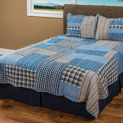 Rizzy Home Jeffrey Patchwork  Quilt