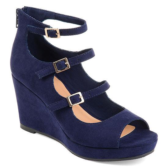 Journee Collection Womens Skyla Wedge Sandals