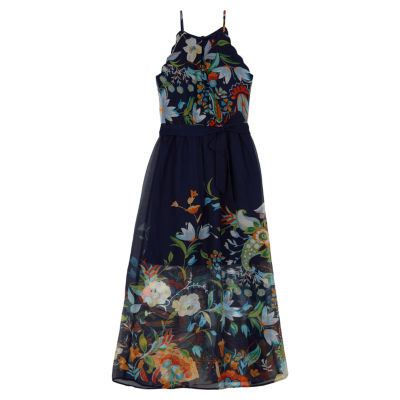 by&by girl Sleeveless Floral A-Line Dress - Big Kid Girls