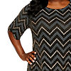 Studio 1 3/4 Sleeve Chevron Sheath Dress - Plus