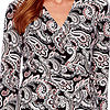 Black Label by Evan-Picone 3/4 Sleeve Paisley Wrap Dress