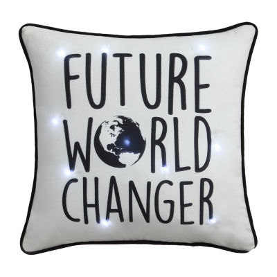 Frank And Lulu LED Light-up World Changer Pillow Rectangular Throw Pillow