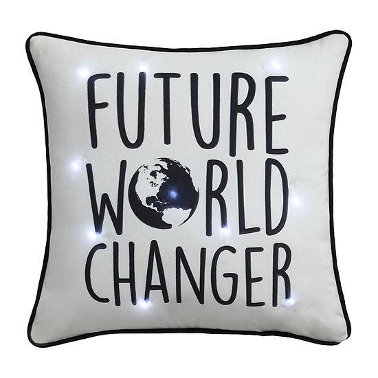Frank And Lulu LED Light-up World Changer Pillow Rectangular Throw Pillow