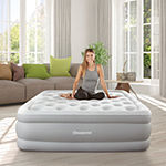 Beautyrest Sky Rise Raised Adjustable Comfort Coil Top Air Bed with Express Pump