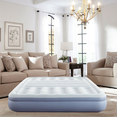 "Thomasville 12"" Queen Lumbar Lift Ti-Zone Support Raised Air Bed Mattress with Express Pump"