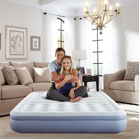 """Thomasville 12"""" Queen Lumbar Lift Ti-Zone Support Raised Air Bed Mattress with Express Pump"""