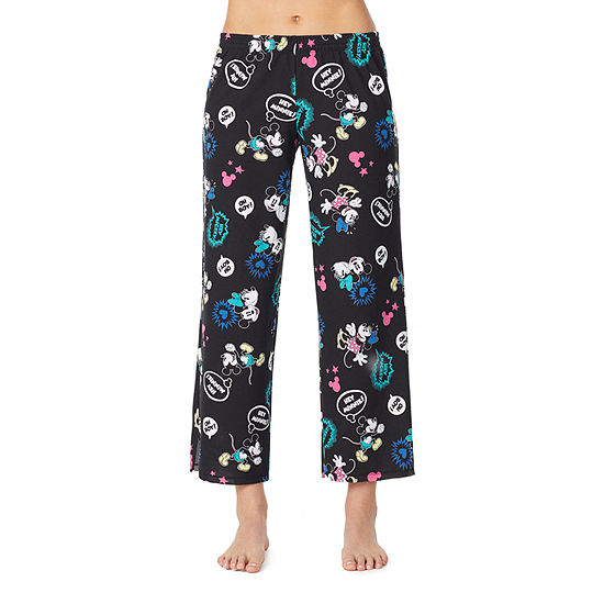 Disney Womens-Juniors French Terry Pajama Pants Mickey Mouse