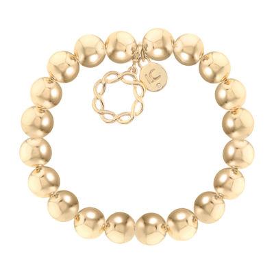 Liz Claiborne Suneshine State Gold Tone Beaded Bracelet
