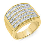 Mens 2 CT. T.W. Genuine White Diamond 10K Gold Fashion Ring