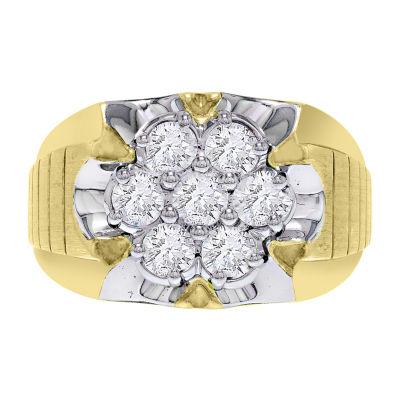 1 1/2 CT. T.W. Genuine Diamond Mens Ring