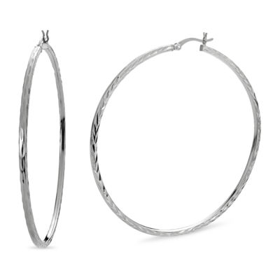 Sterling Silver 60mm Hoop Earrings