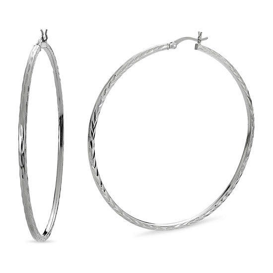 Sterling Silver 60mm Hoop Earrings