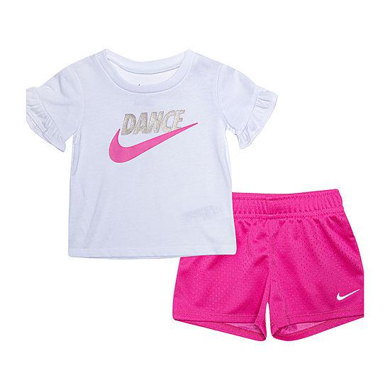 Nike Girls 2-pc. Short Set Baby