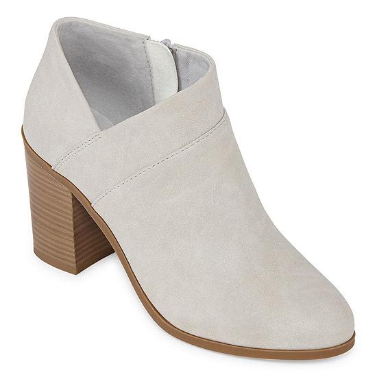 a.n.a Womens Ames Booties Block Heel