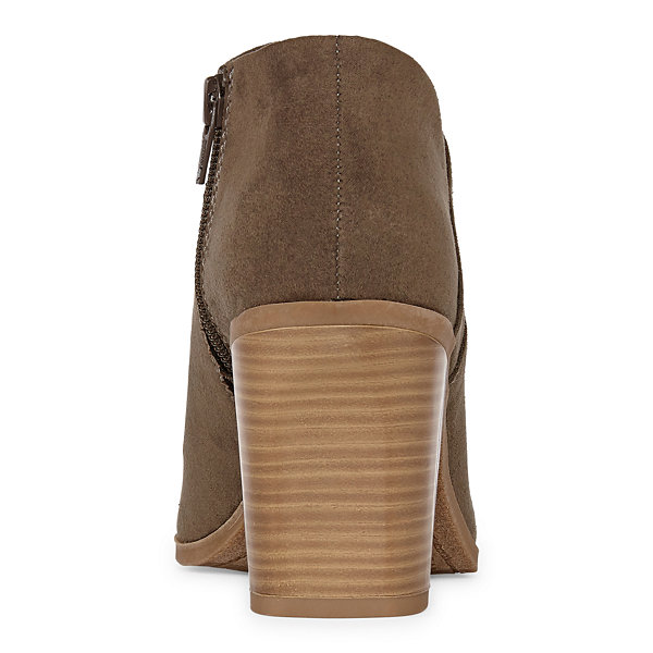 a.n.a Womens Ames Booties Block Heel