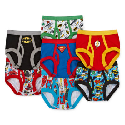 Warner Bros Justice League 7pk Tb Brief 7 Pair Justice League Briefs-Toddler Boys