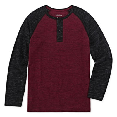 Arizona Boys Henley Neck Long Sleeve T-Shirt Preschool / Big Kid