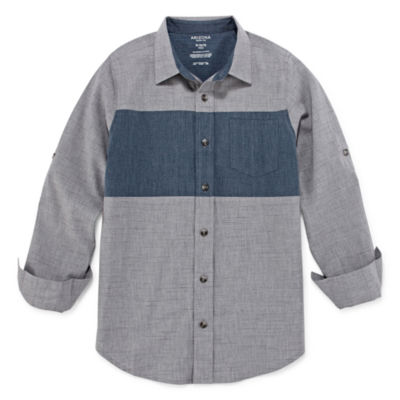 Arizona Little & Big Boys Long Sleeve Button-Down Shirt