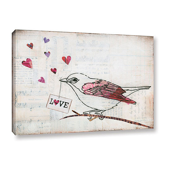 Brushstone Love Birds II Love Gallery Wrapped Canvas Wall Art