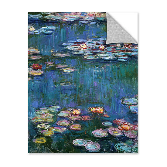 Brushstone Water Lillies By Claude Monet RemovableWall Decal
