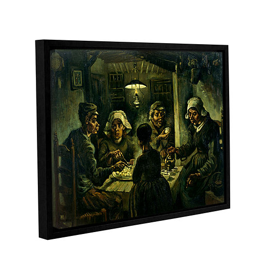 Brushstone The Potato Eaters Gallery Wrapped Floater-Framed Canvas Wall Art