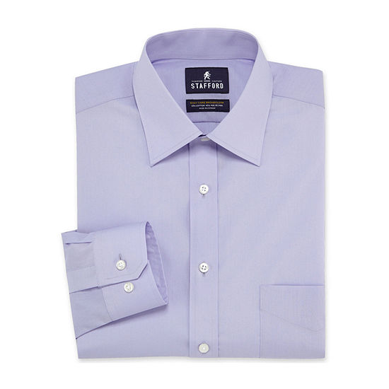 Stafford Men's Fitted Easy-Care Dress Shirt