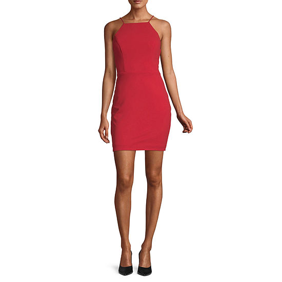 City Triangle-Juniors Sleeveless Cut Outs Bodycon Dress