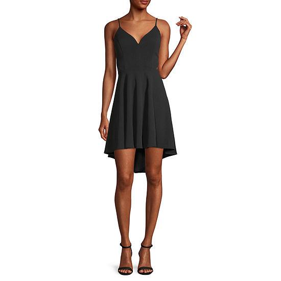 B. Smart-Juniors Sleeveless High-Low Fit & Flare Dress