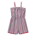 Emily West Reversible Little & Big Girls Sleeveless Romper