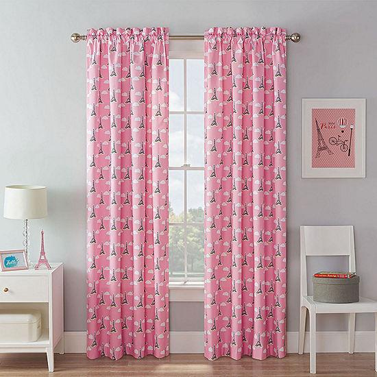 Waverly Tres Chic Light-Filtering Rod-Pocket Single Curtain Panel