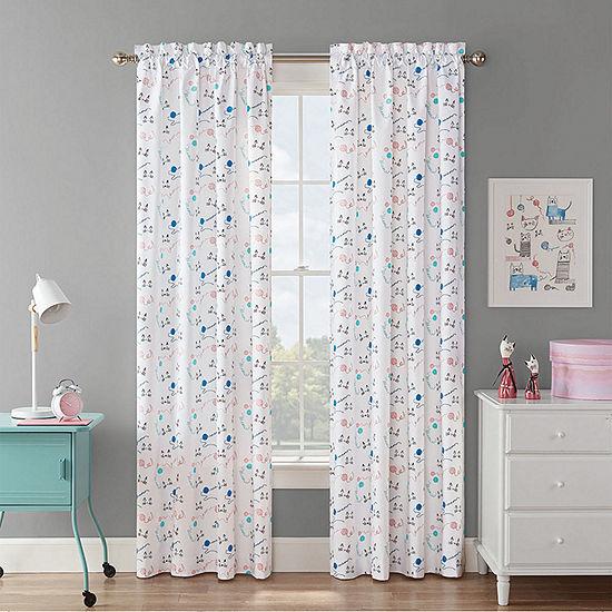Waverly Incatnito Light-Filtering Rod-Pocket Single Curtain Panel