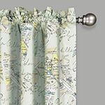 Waverly Mapped Out Light-Filtering Rod-Pocket Single Curtain Panel