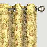 Waverly Pineapple Grove Light-Filtering Grommet-Top Single Curtain Panel
