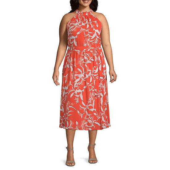 Worthington Womens Halter Dress - Plus