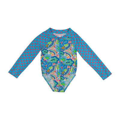 Tommy Bahama Baby Girls Paisley One Piece Swimsuit