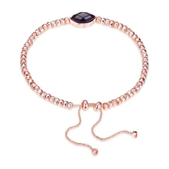 Footnotes Onyx 8 1/2 Inch Link Bolo Bracelet