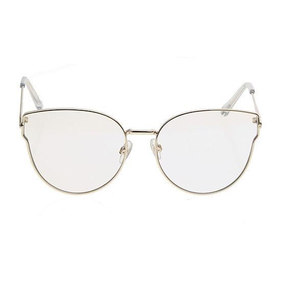 Worthington Metal Cateye Blue Light Womens Sunglasses