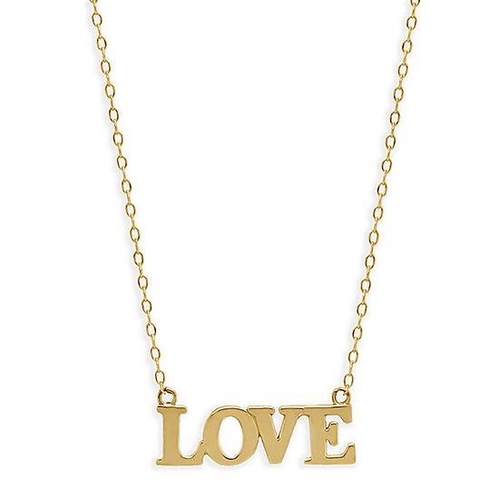 Love Womens 14K Gold Pendant Necklace