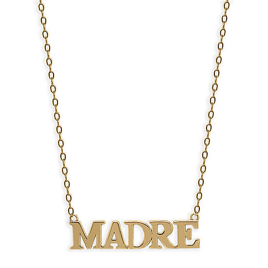 Madre Womens 14K Gold Pendant Necklace