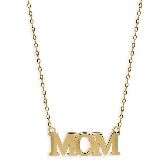 Womens 14K Gold Pendant Necklace