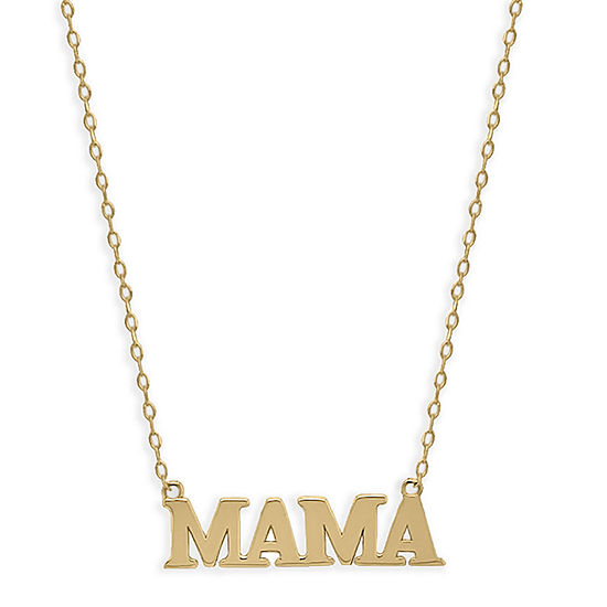 Mama Womens 14K Gold Pendant Necklace