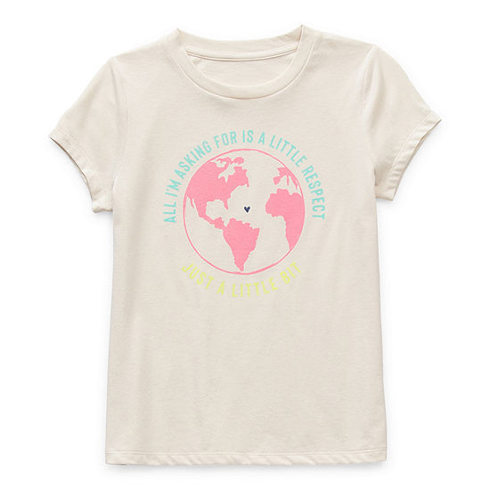 Thereabouts Little & Big Girls Crew Neck Short Sleeve Graphic T-Shirt