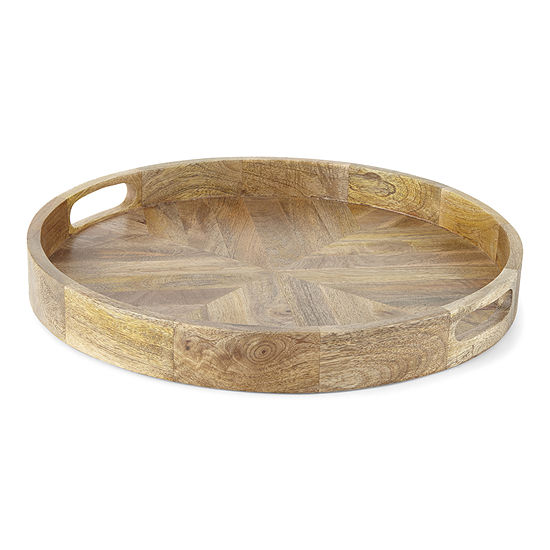 Linden Street Large Wood Decorative Tray