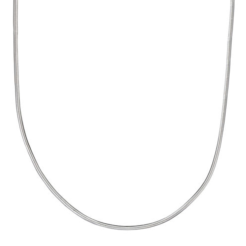 """Silver Reflections™ Sterling Silver Flat Matte Snake 16"""" Chain Necklace"""