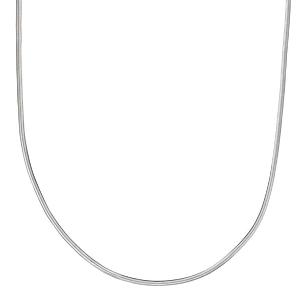"Silver Reflections™ Sterling Silver Flat Matte Snake 20"" Chain Necklace"