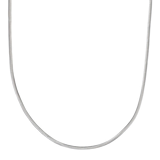 """Silver Reflections™ Sterling Silver Flat Matte Snake 20"""" Chain Necklace"""