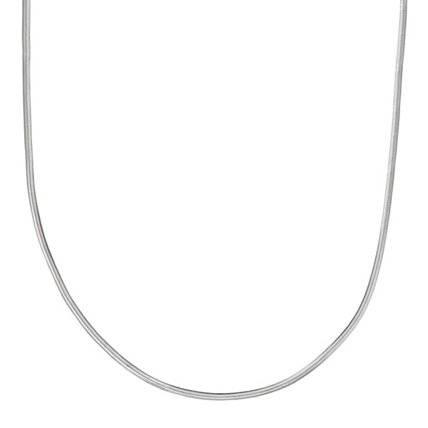 "Silver Reflections™ Sterling Silver Flat Matte Snake 24"" Chain Necklace"