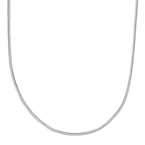"""Silver Reflections™ Sterling Silver Flat Matte Snake 24"""" Chain Necklace"""
