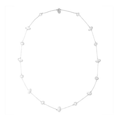 Liz Claiborne® White Bead and Silver-Tone Station Necklace